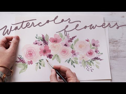 loose-watercolor-flowers-|-practice-for-beginners