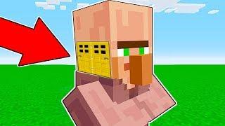 Minecraft Battle - NOOB vs PRO : NOOB BUILT HEAD BLOCK HOUSE INSIDE VILLAGER ! (Animation)