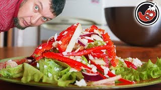 Мексиканский салат с курицей, перцем чили и корнем сельдерея. Почти что ПП!