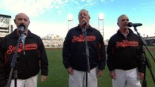 NLCS Gm6: The Kingston Trio sings the national anthem