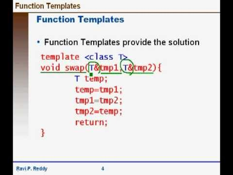 Function templates in c youtube for What is the purpose of a template