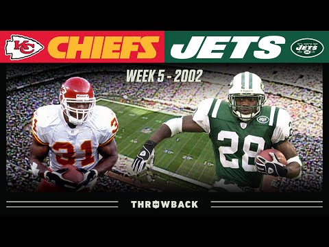 [NFL Throwback] 2 Elite RB's in Their Prime Face Off! (Chiefs vs. Jets, 2002 Week 5)