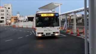 5月18日から三次駅前に移転した三次バスセンター 高速バス・路線バス三次駅前ばす乗り場発着風景
