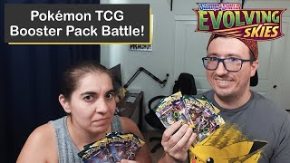 Pokémon Evolving Skies Booster Pack Battle with an Epic Card Pulled!