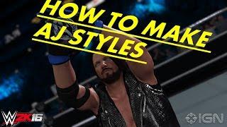 WWE 2K16HOW UM AJ STYLES XBOX 360/PS3