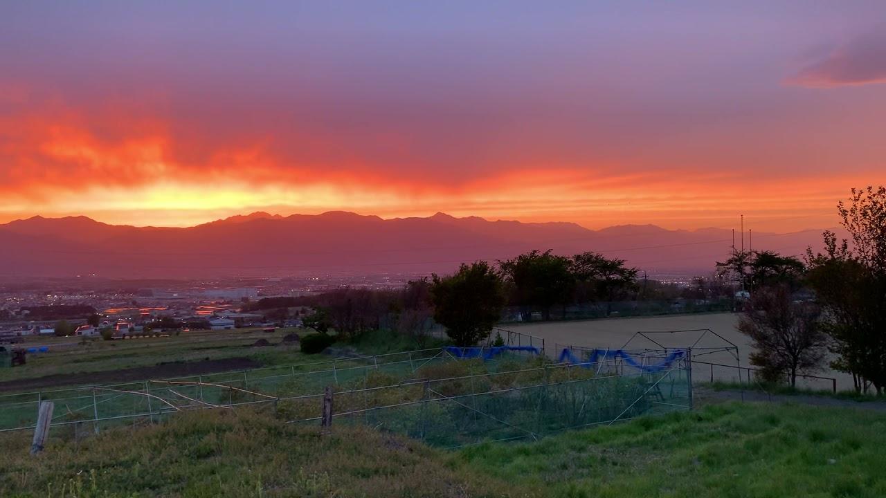 Kota Matsumoto, Jepang Saya merasa sedih ketika melihat matahari terbenam yang indah.