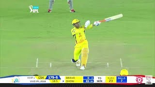 CSK VS KIXP  2018 MATCH DHONI STRIKES MASS ENTEY SUPER AT LAST 5 OVERS SUPER SIXES COMPLETED