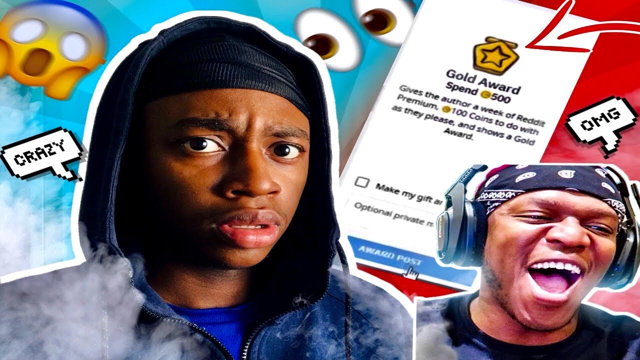 KSI REACTED to my REDDIT video(Gave me GOLD STAR!!)