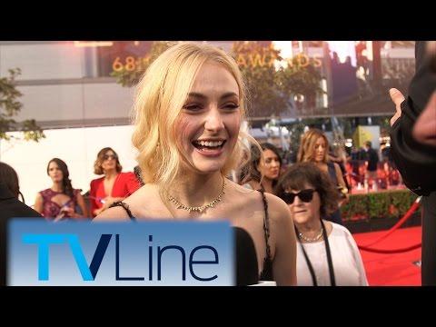 "Sophie Turner ""Game of Thrones"" Interview at Emmys 2016 | TVLine"