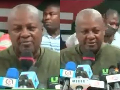 John Mahama's victory speech after winning massively in NDC's primaries