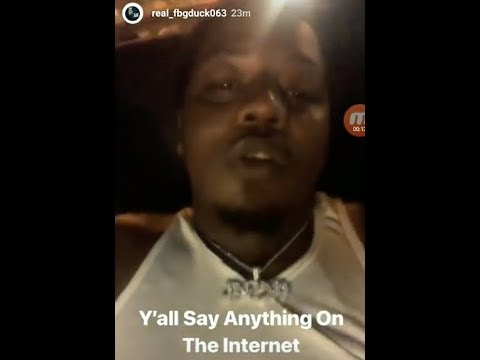 FBG Duck Responds To Being Shot + Possible Reason Why He Isn't Acknowledging It