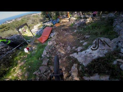 UCI Downhill Weltcup #1 Kroatien, Veli Losinj | POV Helmet Cam | Jasper Jauch