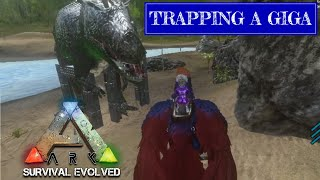 TRAPPING AND TAMING A WILD GIGA   Ark Survival Evolved