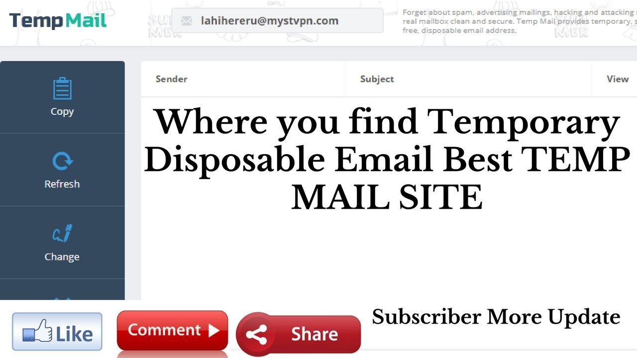Where you find Temporary Disposable Email Best TEMP MAIL SITE