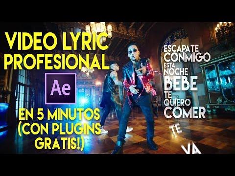 Como crear y animar un Video Lyric Profesional - EN 5 MINUTOS CON PLUGINS GRATIS (After Effects)