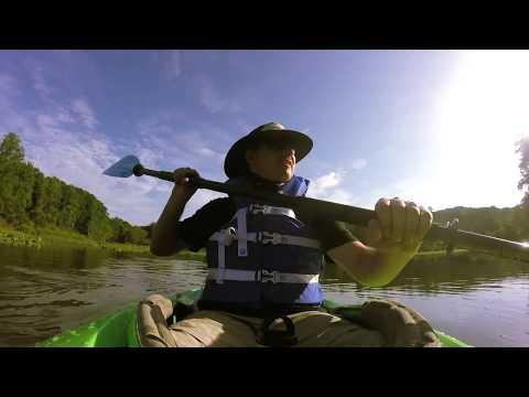 Kayaking Lake Issaqueena Near Clemson, SC