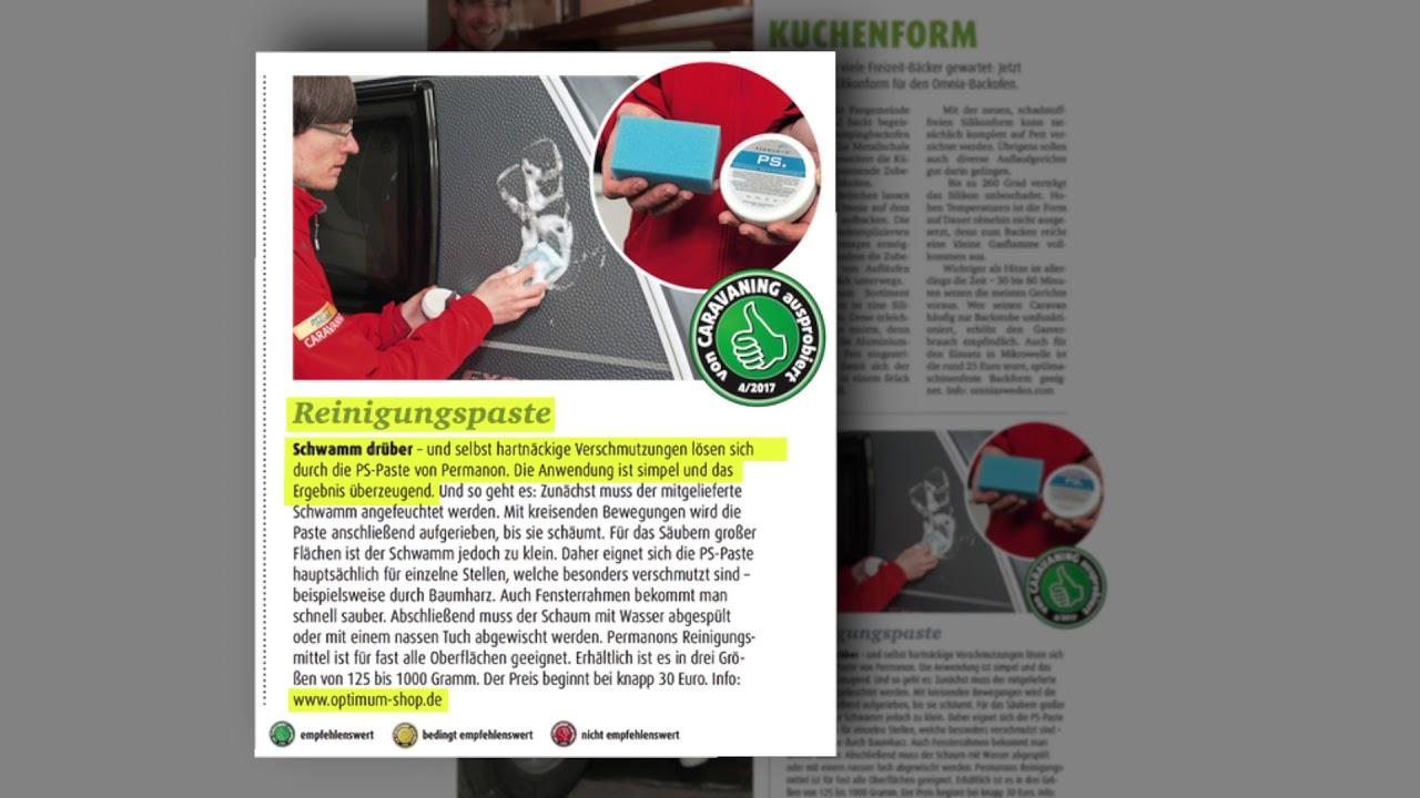 Testbericht im Caravaning Heft - Permanon PS Paste