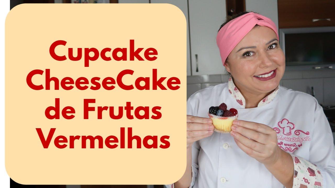 Cupcake CheeseCake de Frutas Vermelhas