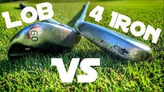 Lob Wedge Only Vs. 4 Iron Only Match Play Battle | Golfing At The Little Course