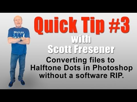 Scott Fresener - Quick Tip #3 - Converting Separations to Halftone Dots in Photoshop