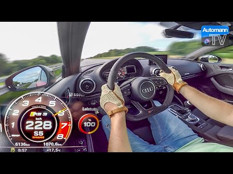 Audi RS3 Sedan (400hp) - 0-284 km/h LAUNCH CONTROL (60FPS)