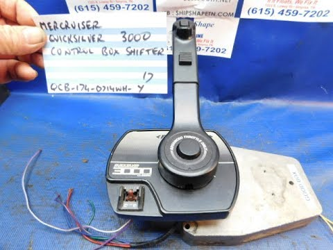 SOLD 71517 Mercruiser Quicksilver 3000 Control Box Shifter  YouTube