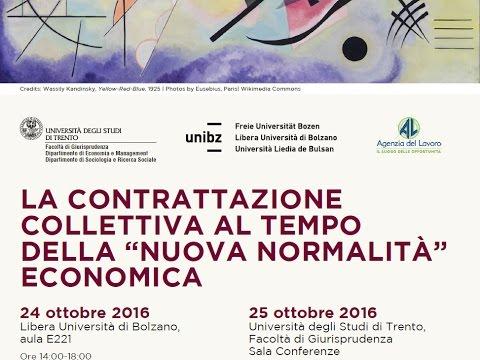 Esperienze di contrattazione territoriali e produttività - Trento, 25 ottobre 2016