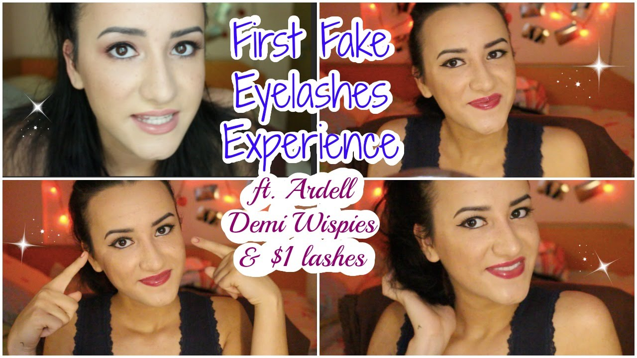 33aefaaf4a7 First Time Applying Fake Eyelashes ft. Ardell Demi Wispies and $1 Lashes -  YouTube
