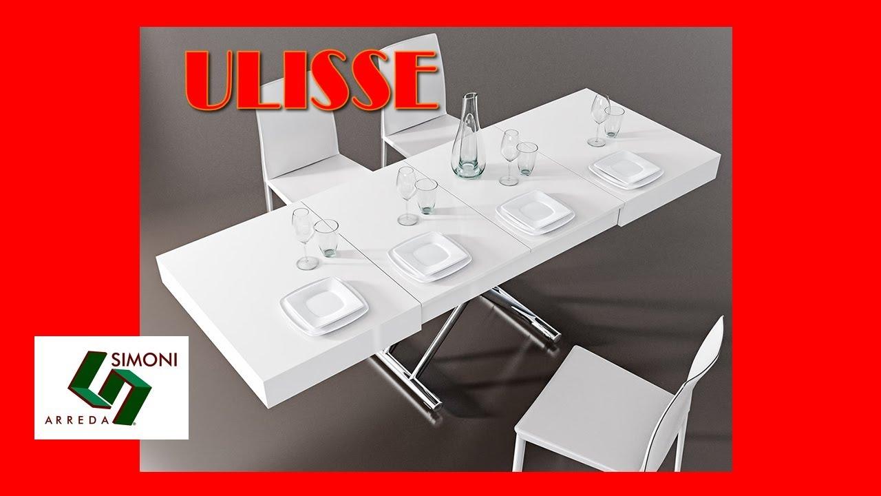 Tavolino trasformabile in tavolo da pranzo ulisse youtube for Simoni arreda milano