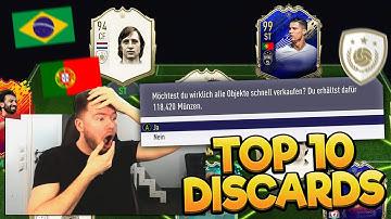 FIFA 20: MEINE TEUERSTEN DISCARDS 😱😱 TOP 10 ABGESTOßENE ICONS, TOTYS ETC