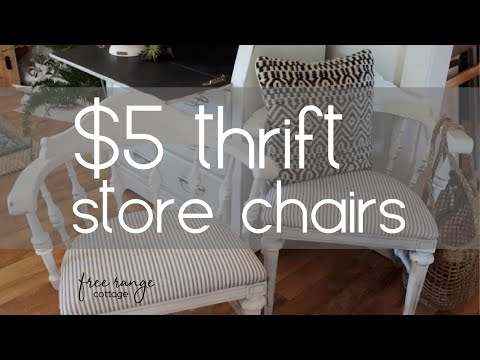 before-and-after-diy-furniture-makeover~thrifted-chairs~farmhouse