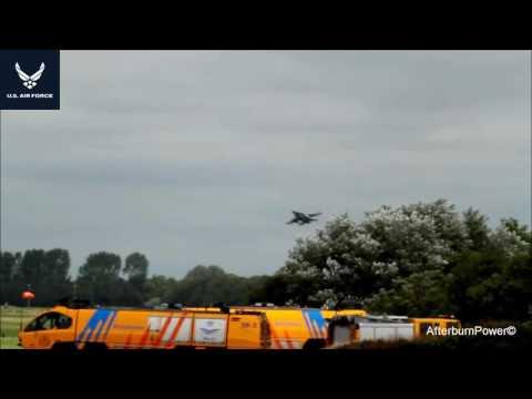Fighters | Fighter Jet | F16 Take Off wave + N116MA Learjet 36A E LEEUWARDEN AIR BASE