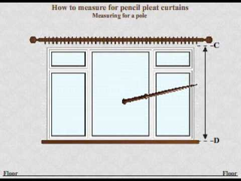 Curtains Online Video tutorial -  How to measure for made to measure pencil pleat curtains pole