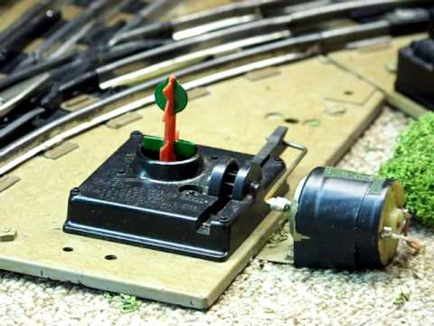 adding remote control to lionel postwar 027 no  1022 manual switches -  youtube