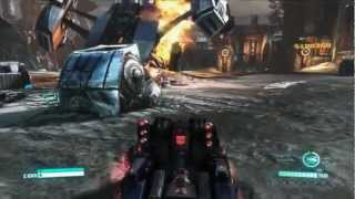 Optimus Prime and Metroplex Blasting in Transformers Fall of Cybertron