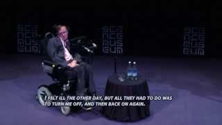 Netradicinis Stephen Hawking stand-up pasirodymas