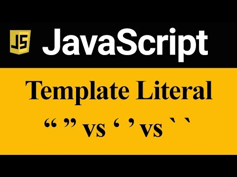 Template Literal Difference Between Double Quote Single Quote And Back Tick In JavaScript (Hindi)