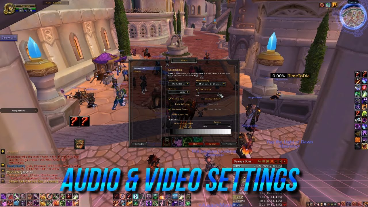World Of Warcraft FPS FIX TIPS TUTORIAL