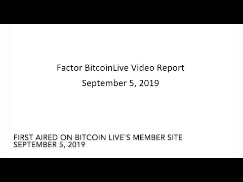 Peter Brandts Crypto Update September 5, 2019 Edition