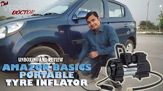 PORTABLE TYRE INFLATOR - 120PSI AIR COMPRESSOR - AMAZON BASICS - UNBOXING AND FULL REVIEW IN HINDI