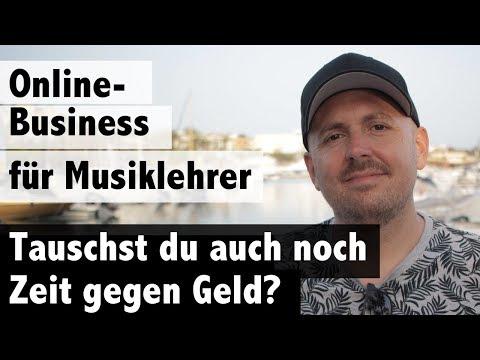 Online Business für Musiklehrer - Vermeide es, Zeit gegen Geld zu tauschen!