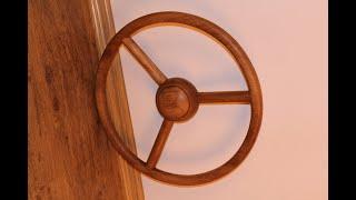 процесс изготовления деревянного руля на Газ 21 - Волга