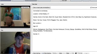 FIRST TIME ON CHATROULETTE & GUESS WHO I SEE?