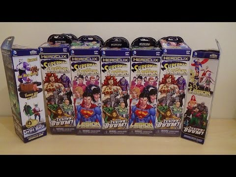 Heroclix Superman & The Legion Of Superheroes   12 Booster Unboxing