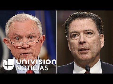 Jeff Sessions y James Comey fueron interrogados por el fiscal especial que investiga el 'Rusiagate'