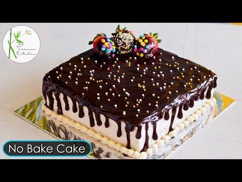 No Bake Chocolate Cake | Instant Chocolate Strawberry Cake | Bread Cake ~ The Terrace Kitchen