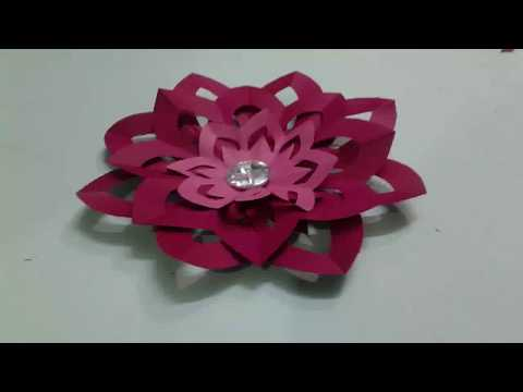 Paper flower | Paper Flower Assembly | diy
