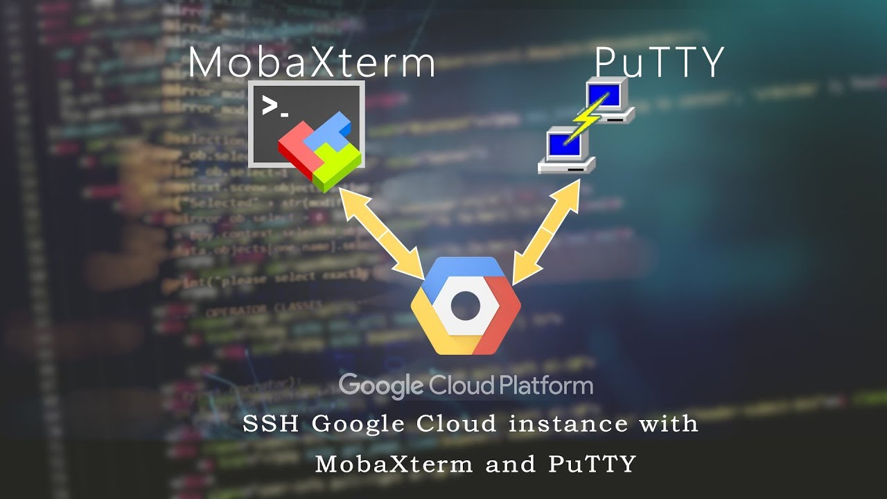 SSH connect Google Cloud instance with MobaXterm and PuTTY: