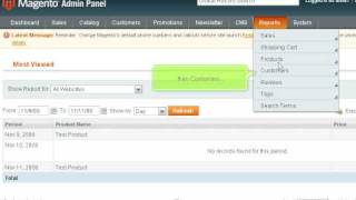 How to view reports (sales, shipping etc.) in Magento | SiteGround Magento Tutorial (Beginners)