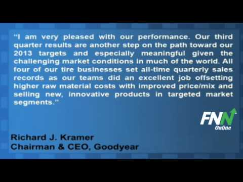 Goodyear Tire Drives In Mixed Earnings For Q3